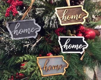 Iowa Home Custom Laser Cut Christmas Ornament