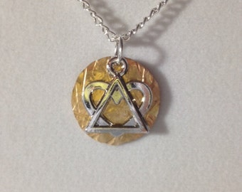 Adoption Triad Necklace - Info on Back