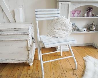 Vintage Garden Chair Klappstuhl Alter Gartenstuhl Shabby Chic