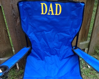 Personalized chair, birthday gift, football chair, Event chair, Beach chair, Baseball, Soccer, Father's Day, Kick Off Day,