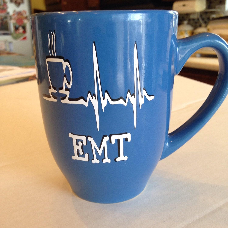 Monogram coffee cup Personalized mug Custom coffee mug EMT ...