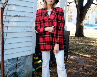 Vintage Late 1980s Early 1990s Pink Jean Jacket Dusty Rose Jacket with Pendleton Style Southwestern Print Breaker Denim Breaker Sportswear
