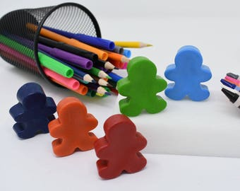 People Crayons - Set of 5 - Person Crayons - Recycled Crayons - Imagination Crayons - Imaginative Play - Crayon Party - Party Favors