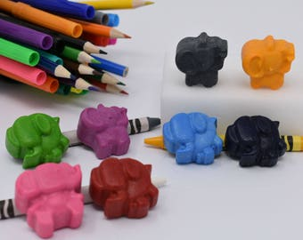 Elephant Crayons - Set of 8 - Elephant Gift - Elephant Party - Party Favor - Elephant Lover - Recycled Crayons - Shape Crayons