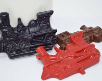 Train Crayons - Set of 3 - Train Party Favor - Train Party - Recycled Crayons - Shaped Crayons - Kids Party Favor - Birthday Party Favor