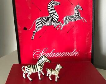 1950s Napco Zebra figurines-mommy and baby