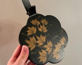 Vintage Tole Maple Leaf Crumb Catcher