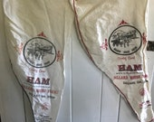 Vintage flour sack Dillard House ham bags- Dillard, Georgia