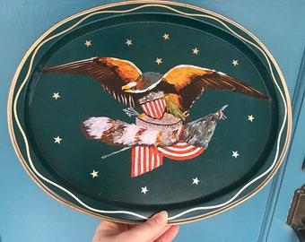 Bicentennial American Eagle tray
