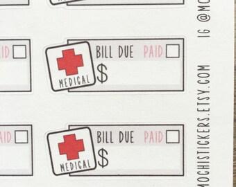 Medical Bill Planner Sticker (MS-MEDBILL)