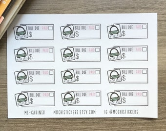 Car Insurance Planner Stickers (MS-CARINSU) for Erin Condren, happy planner, Plum Paper, Inkwell Press, etc.