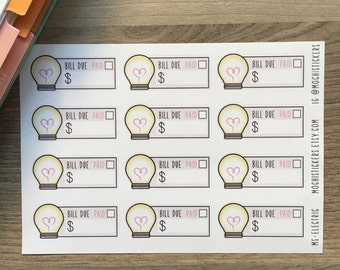 Electricity Bill Planner Sticker (MS-ELECTRIC)