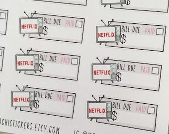 Netflix Planner Stickers (MS-NETFLIX)