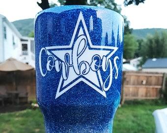 Dallas Cowboys Glitter Tumbler