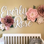Cutout Name Signs - Two Names - girly happy nursery decor