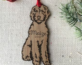 goldendoodle personalized christmas ornament labradoodle custom pet gift for dog lover pet remembrance gift puppys first christmas - Goldendoodle Christmas Decorations