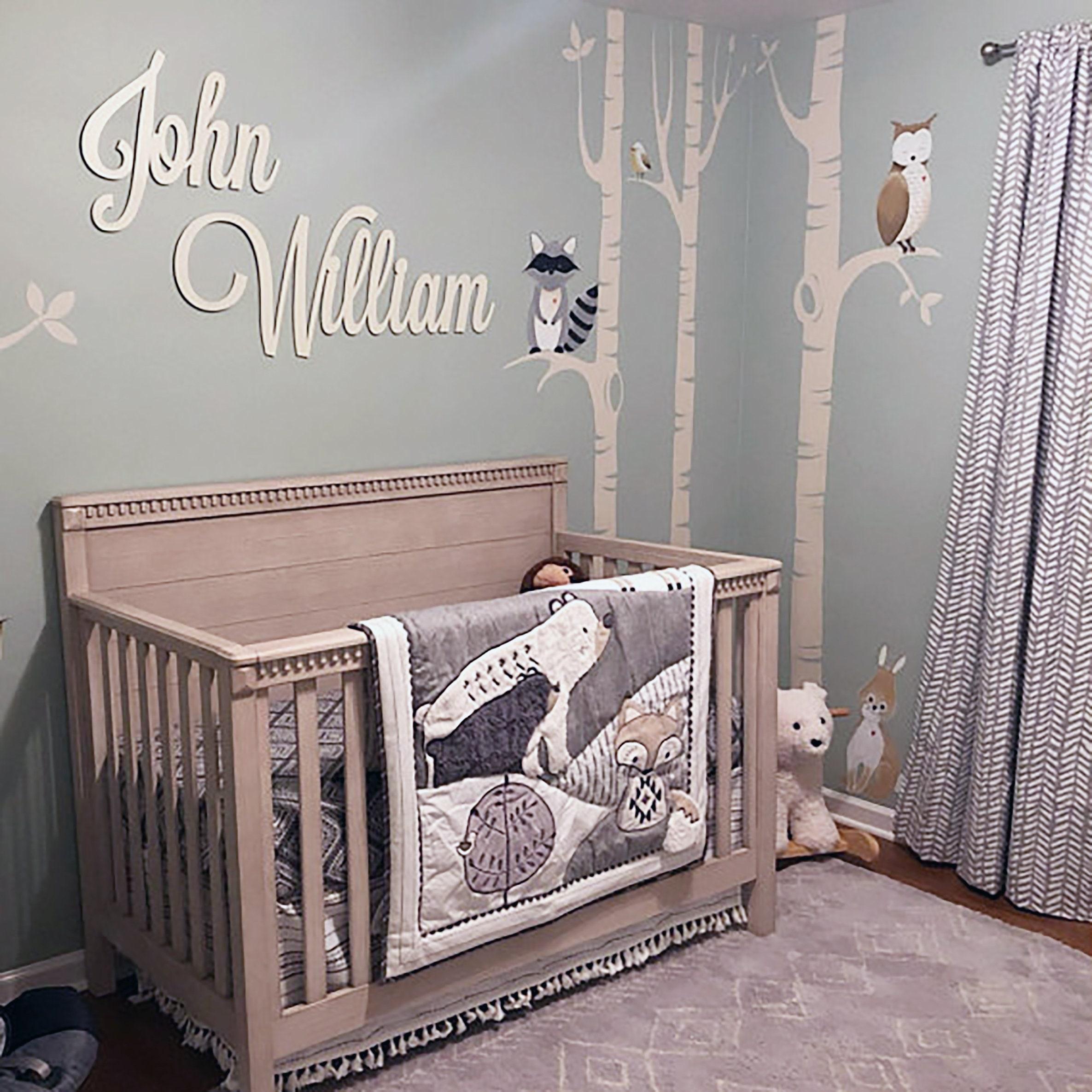wall decor over crib sign wood cutout 12x12 Square Custom Wood Name Sign name wall sign nursery name sign custom name art name cutout