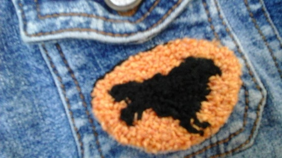 baa62b97084 Punchneedle Embroidered Brooch Pin
