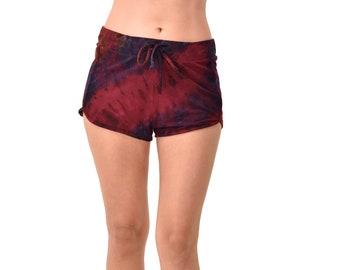 Tie Dye Mini Shorts Festival Pants Tie Dye Shorts Women Shorts Hippie Short Booty Shorts
