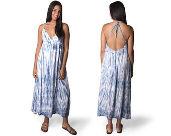 Tie Dye Maxi Dress Etsy