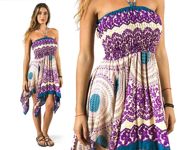 da7f04eaff2 Convertible Print Fairy Dress   Skirt Purple 3135U