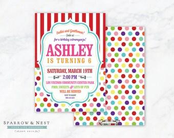 Colorful Carnival Invitation