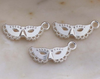 Czech Beads Carnivale Masquerade Mask 25-3s Mask Charms