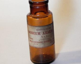 Vintage Poison Sodium Arsenate (Arsenic)