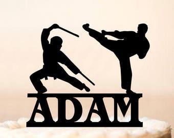 Ninja Cake TopperNinja Birthday Toppercustom Name Topper With Age Namekarate Toppermartial Arts Karate Judo 0257