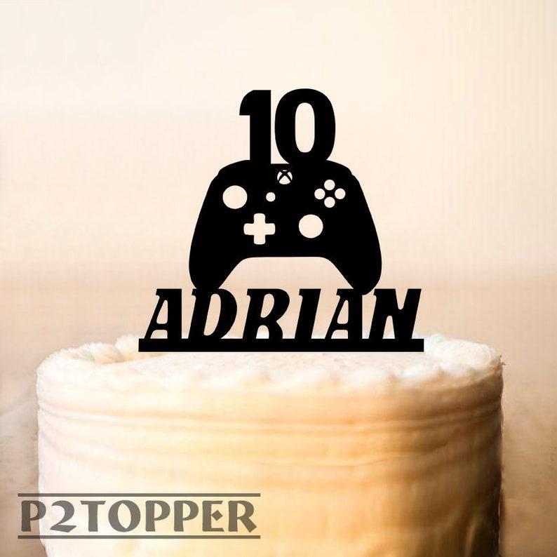 Gamer Cake TopperGame ControllerXBox Topperbirthday