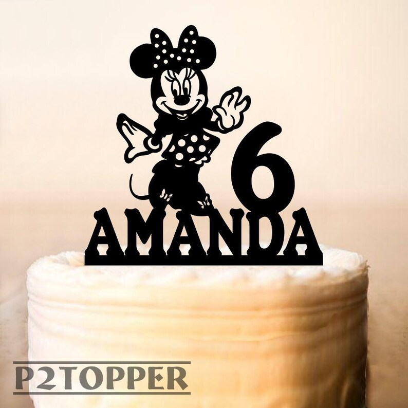53e1248375 Minnie Mouse cake topperMinnie Mouse Birthday Cake   Etsy