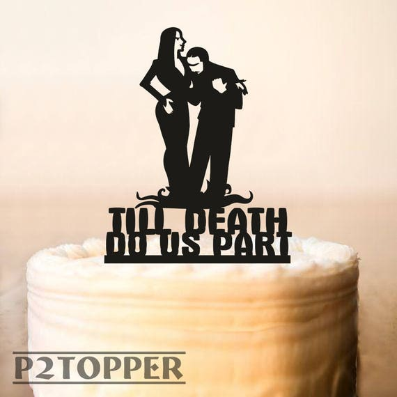 addams family wedding cake topper wedding cake topperhalloween wedding cake topperadams etsy 10540