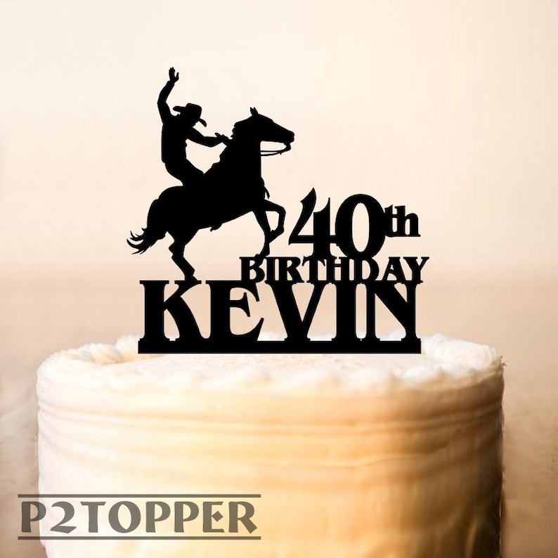 Cowboy Cake TopperRodeo Toppercake Topper With