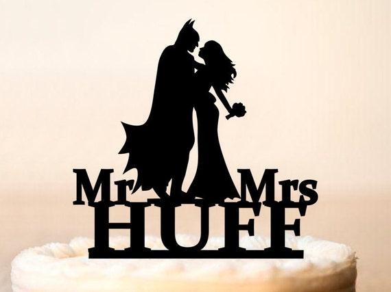 Wedding Batman Cake Topper Batman Cake Topper Batman | Etsy