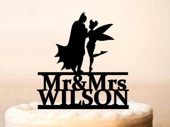 Batman and Tinkerbell Cake Topper Wedding Cake TopperBatman | Etsy