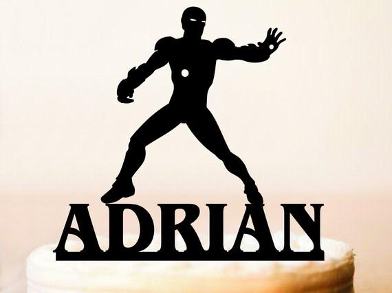 tout nom et numéro Iron Man Cake Topper personnalisé Made To Order Avengers