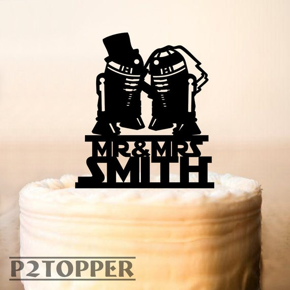 Wedding Cake Topper Star Wars Cake Topper R2d2 Cake Topper Acrylic Cake Topper Star Wars Wedding Cake Topper Star Wars Silhouette 0251a