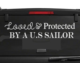 sailor decal-support sailors decal-sailor car decal-navy parent car decal-armed forces decal-navy stickers