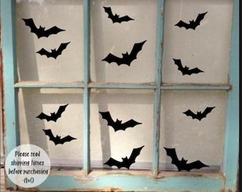 Bat Halloween Decal, Halloween Sticker, Halloween Window Decal, Bat Decal, Halloween Decoration, Halloween window stickers, Halloween decals