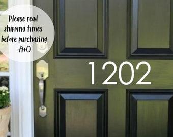 Custom House Number Vinyl Door Decal Custom House Number Vinyl Decals Address Decals 10.75-23.5x4 Numbers Home Office Address Decal
