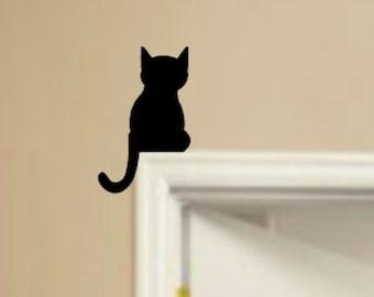 cat sign Door topper Kitten Over The Door Sign Window Topper Sign for home doorways Cat cat silhouette kitty Door Topper
