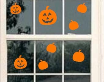 pumpkin window decal,halloween window cling, halloween window decal, window decal, halloween decals, pumpkin decal, jackolantern decal