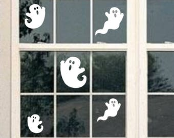 Halloween Ghosts Wall Decals-Spooky Ghost Wall Decals-Halloween Ghost Decal-Spooky Ghost-Ghost Wall stickers-Halloween Decorations-window