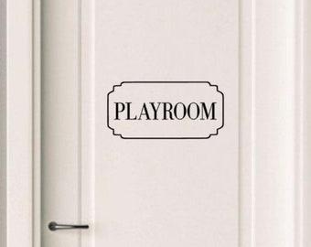 Decal for Door Girls Decals Playroom Door Playhouse Sign Name Stickers for kids Custom Door decal Door Monogram Decal Butterfly decor