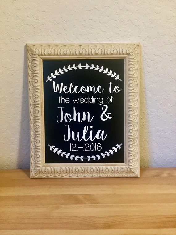Welcome To The Wedding Of Decal Wedding Decor Rustic Wedding Etsy