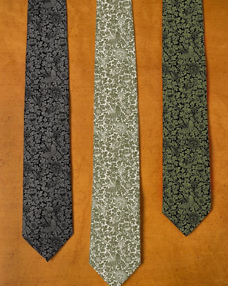 William Morris Tie  Floral Tie  Men's Neckties  image 0
