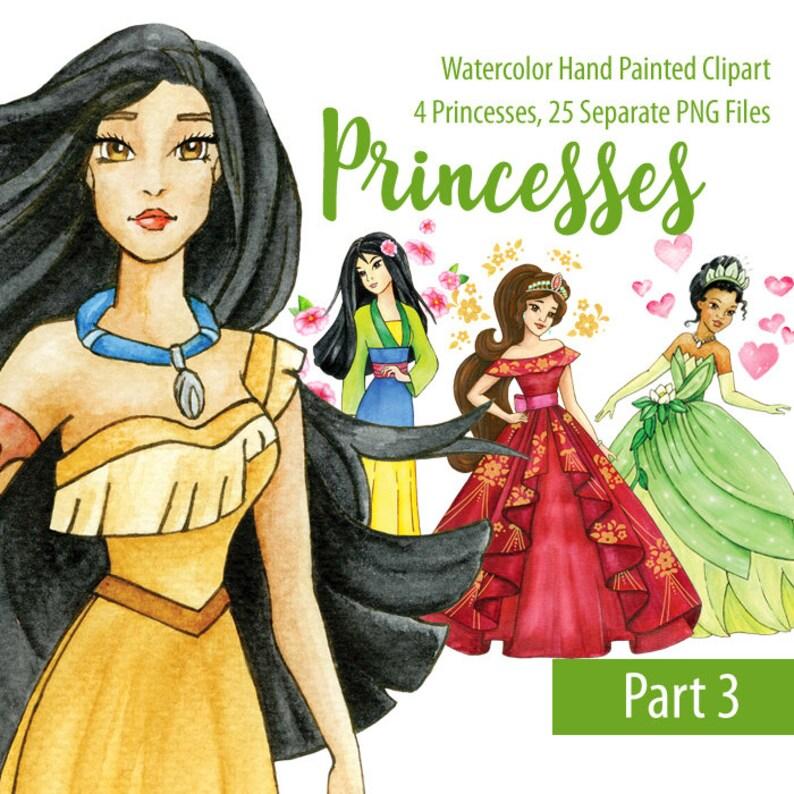 Printable Calendar 2019 Pocahontas Prinsess For February For Kids Watercolor Disney Princess Elena Mulan Pocahontas Tiana | Etsy
