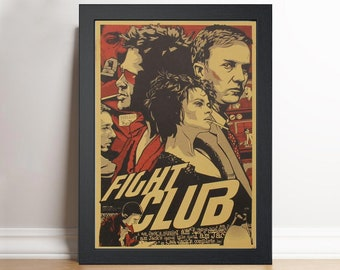 Fight club Framed print A3