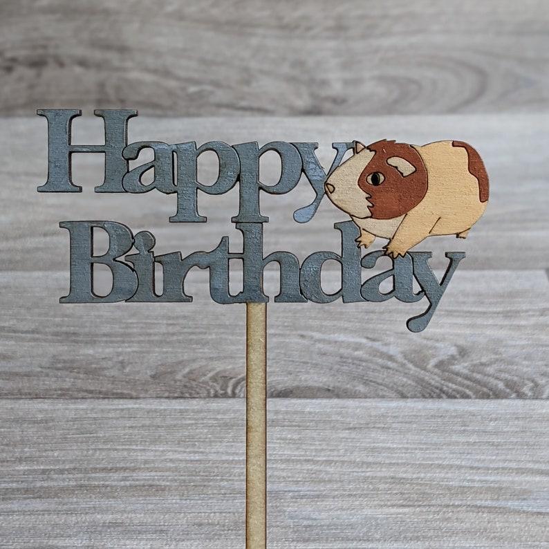 Guinea Pig Cake Topper Happy Birthday