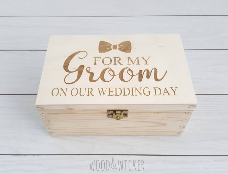 Groom Box Groom Gift Box Groom Gift Wedding Keepsake Box Wooden Box Husband To Be Gift On Our Wedding Day For My Groom